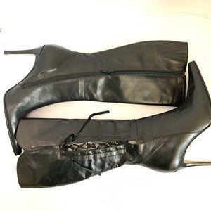 Andrew Stevens Lace Detail Boots Sz 36 1/2